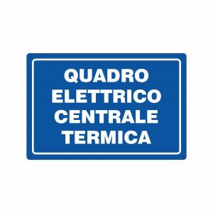 Cartello quadro elettrico centrale termica