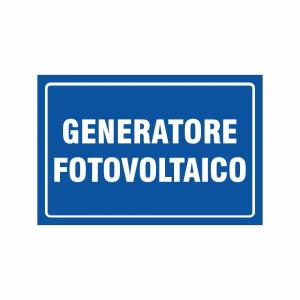 Cartello generatore fotovoltaico