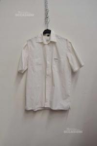 Shirt Boy Calvin Klein 16a White,sleeve Short 100% Cotton