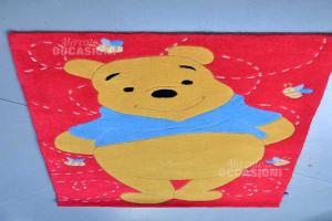 Carpet Per Bedroom Red Winnie The Pooh 80x140 Cm
