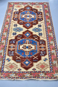 Carpet Brown Red Blue Beige 100x180 Cm