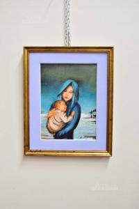 Quadro Donna Con Bambino Bordignon 45x55 Cm