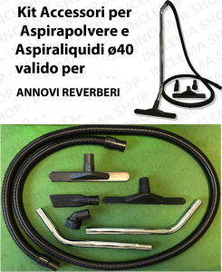 KIT tubo flessibile e Accessori per Aspirapolvere e Aspiraliquidi ø40 valido per ANNOVI REVERBERI