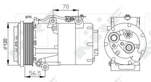 COMPRESSORE ARIA CONDIZIONATA PER C-MAX FOCUS II KUGA C30 C70 S40 II