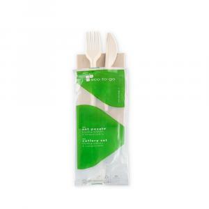 Bis di posate biodegradabili imbustate MaterBi