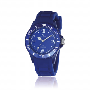 Luca Barra - Orologio in silicone blu quadrante blu ghiera blu