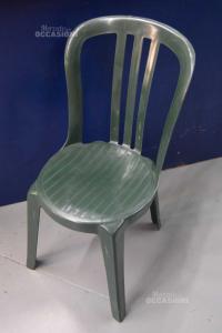 6 Sedie In Plastica Verdi Da Esterno