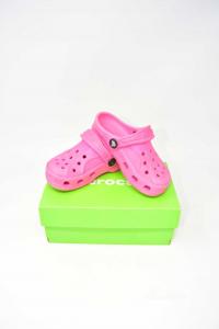 Ciabatte Bambina Crocs Rosa N 25