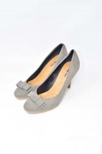 Scarpe Donna Col Tacco Trendy-too Grigi N 38