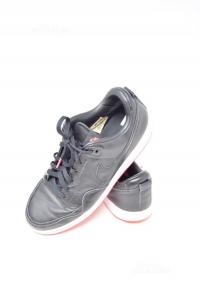 Scarpe Uomo Nere Nike N 45.5 Suola Rossa