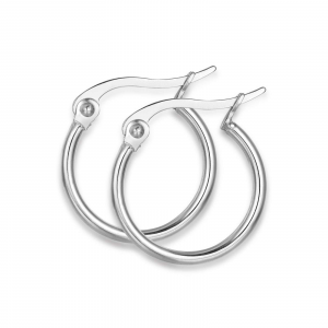 Luca Barra - Orecchini in acciaio cerchio diametro 13mm
