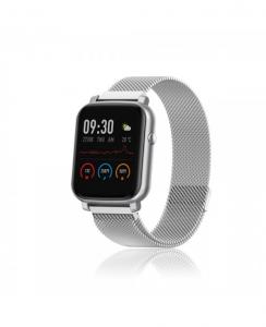 David Lian - Smartwatch con cinturino in acciaio e cassa acciaio
