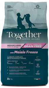 TOGETHER M/L ADULT MAIALE E PATATE  2,5 KG.