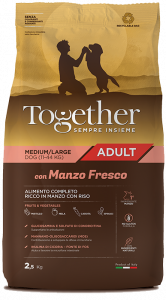 TOGETHER M/L ADULT MANZO E RISO  2,5 KG.
