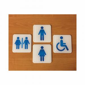 Cartello plexiglass toilette