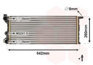 Radiatore, Raffreddamento Motore per FIAT PANDA 1100 4X4