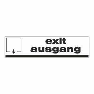 Cartello Uscita in inglese e tedesco