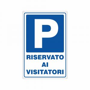 Cartello Parcheggio riservato ai visitatori