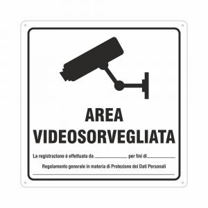 Cartello area videosorvegliata