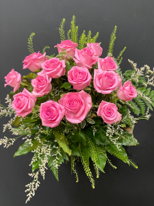 Mazzo di rose rosa a gambo medio - Scegli il numero di rose che vuoi