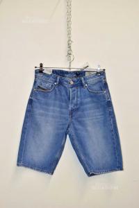 Bermuda Jeans Uomo Diesel Tg. W30 Keeshort Regular