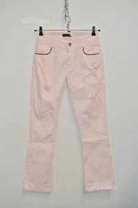 Pantaloni Donna So Allure Tg 42 Con Strass Sulle Tasche