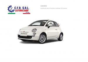 FISSO POST. CARR. SX INCAPS.PROF.CROMATO PER FIAT 500 CABRIO 2009