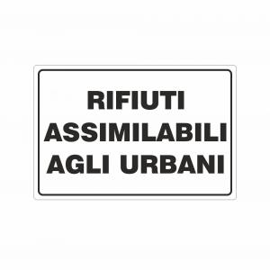 Cartello Rifiuti assimilabili agli urbani