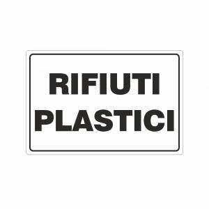 Cartello Rifiuti plastici