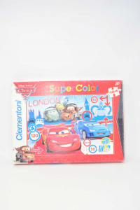 Puzzle Cars 2 Clementoni Super Color 104 Pieces S 1