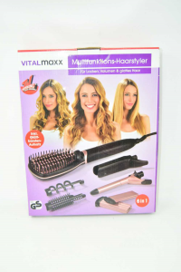 Brush Electric Vital Butxx Multifunction 6in1 With Plate And Curling Iron New