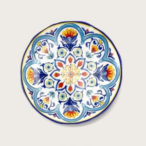 Piatto A Forma Rotonda In Melamina 42 Cm Colorato Decorato Capri Casa Cucina Collezione