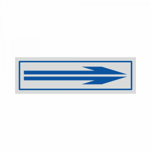 Adesivo freccia direzionale