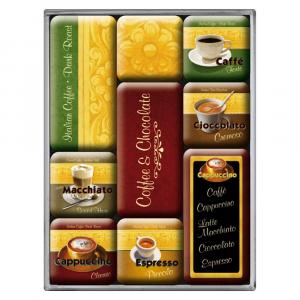 Set 9 magneti Coffee & Chocolate