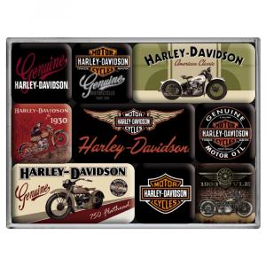 Set 9 magneti Harley Davidson