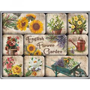 Set 9 magneti English Flowers Garden