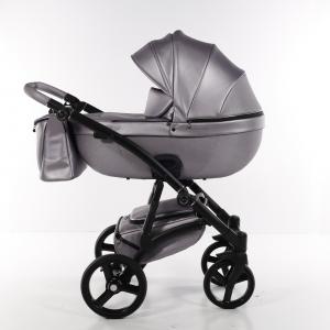 Novità Tako Baby - Laret Premium - telaio nero - ecopelle - lilla/argento