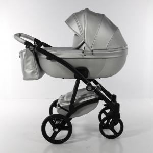Novità Tako Baby - Laret Premium - telaio nero - ecopelle - argento