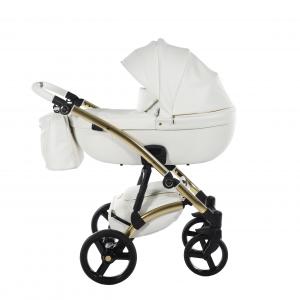 Novità Tako Baby - Laret Premium GT - telaio oro - ecopelle - bianco/oro