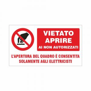 Adesivo vietato aprire ai non autorizzati