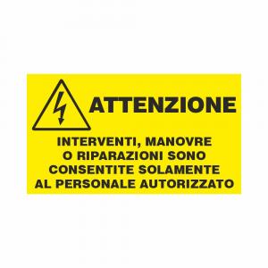 Adesivo Interventi consentiti solo al personale autorizzato