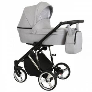Baby Atelier - Modello Molto - telaio silver o gold - colore grigio chiaro