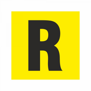Adesivo R rifiuti