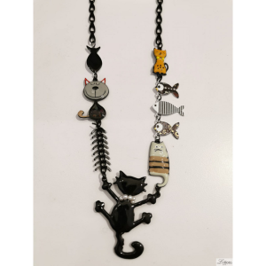 Collier Chat and Sardine (21ecn08)