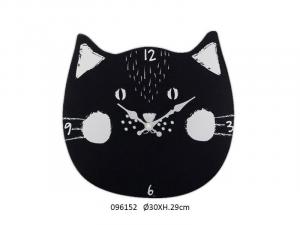 Orologio gatto nero (096152)