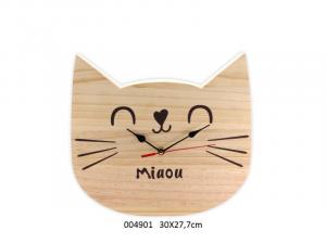Orologio in legno Gatto Catwood (004901)