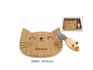 Set formaggio con tagliere Catwood (004925)