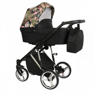 Baby Atelier - Modello Molto - telaio silver o gold - colore nero con stampa floreale