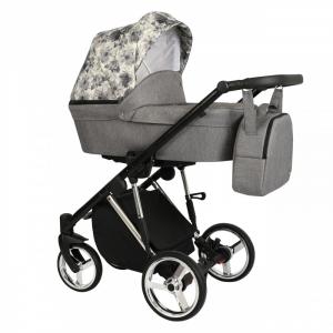Baby Atelier - Modello Molto - telaio silver o gold - colore grigio con stampa floreale