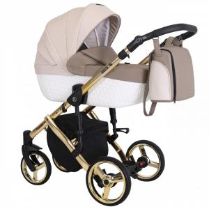 Baby Atelier - Baby Pram 3in1 Tiaro Premium - telaio gold o silver - TI 03